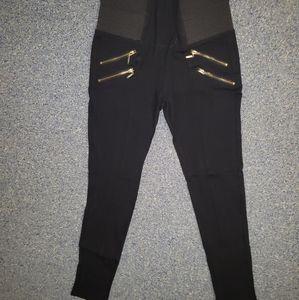Black zipper Ci Sono leggings